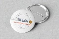 macaron saga design-badge